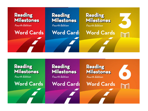 Reading Milestones Word Cards