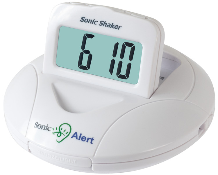 Sonic Shaker Vibrating Travel Alarm Clock