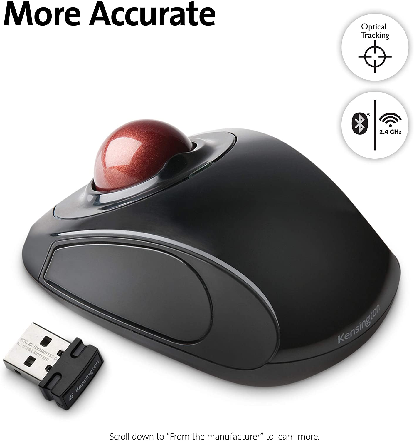 Kensington Wireless Orbit Optical Trackball Mouse